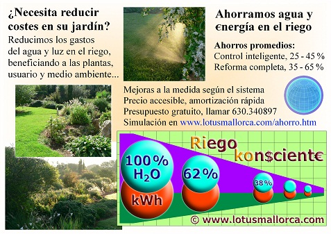 Ahorro de agua y energ a lotus mallorca s l for Sistemas de ahorro de agua